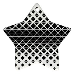 Triangle Pattern Background Ornament (star)