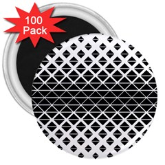 Triangle Pattern Background 3  Magnets (100 Pack)