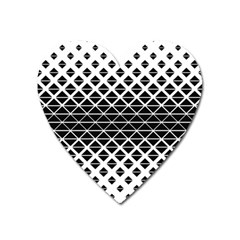 Triangle Pattern Background Heart Magnet