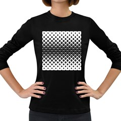 Triangle Pattern Background Women s Long Sleeve Dark T Shirts