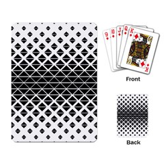 Triangle Pattern Background Playing Card