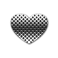 Triangle Pattern Background Rubber Coaster (heart)