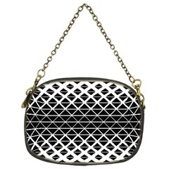 Triangle Pattern Background Chain Purses (one Side)