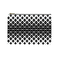 Triangle Pattern Background Cosmetic Bag (large)