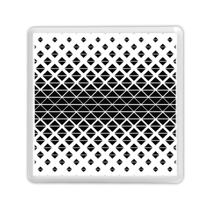 Triangle Pattern Background Memory Card Reader (Square)