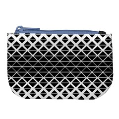 Triangle Pattern Background Large Coin Purse