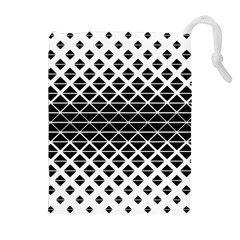 Triangle Pattern Background Drawstring Pouches (extra Large)