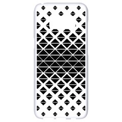Triangle Pattern Background Samsung Galaxy S8 White Seamless Case