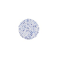 Star Curved Background Blue 1  Mini Magnets