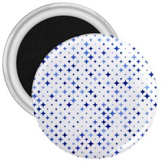 Star Curved Background Blue 3  Magnets