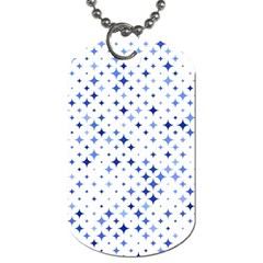 Star Curved Background Blue Dog Tag (one Side)