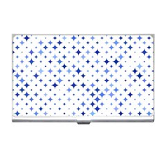 Star Curved Background Blue Business Card Holders