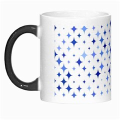 Star Curved Background Blue Morph Mugs