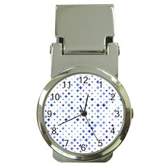Star Curved Background Blue Money Clip Watches
