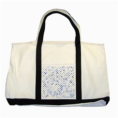 Star Curved Background Blue Two Tone Tote Bag