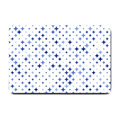 Star Curved Background Blue Small Doormat