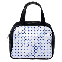 Star Curved Background Blue Classic Handbags (one Side)