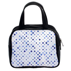 Star Curved Background Blue Classic Handbags (2 Sides)