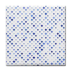 Star Curved Background Blue Face Towel