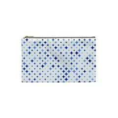 Star Curved Background Blue Cosmetic Bag (small)