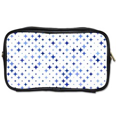 Star Curved Background Blue Toiletries Bags 2 Side
