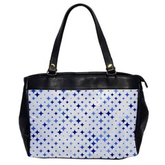 Star Curved Background Blue Office Handbags