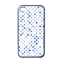 Star Curved Background Blue Apple Iphone 4 Case (black)