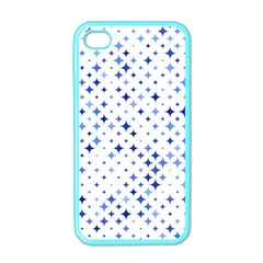 Star Curved Background Blue Apple Iphone 4 Case (color)