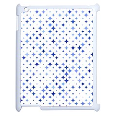 Star Curved Background Blue Apple Ipad 2 Case (white)