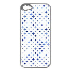 Star Curved Background Blue Apple Iphone 5 Case (silver)