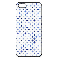 Star Curved Background Blue Apple Iphone 5 Seamless Case (black)