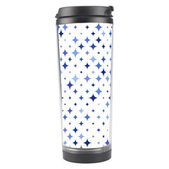 Star Curved Background Blue Travel Tumbler