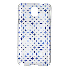 Star Curved Background Blue Samsung Galaxy Note 3 N9005 Hardshell Case