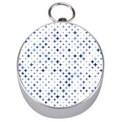 Star Curved Background Blue Silver Compasses