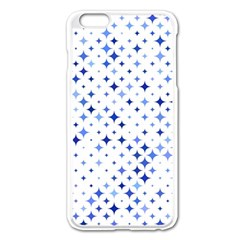 Star Curved Background Blue Apple Iphone 6 Plus/6s Plus Enamel White Case