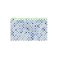 Star Curved Background Blue Cosmetic Bag (xs)