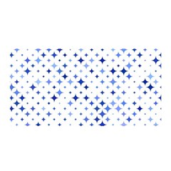 Star Curved Background Blue Satin Wrap