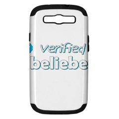 Verified Belieber Samsung Galaxy S Iii Hardshell Case (pc+silicone)