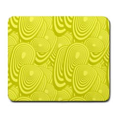 Yellow Oval Ellipse Egg Elliptical Large Mousepads