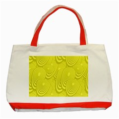 Yellow Oval Ellipse Egg Elliptical Classic Tote Bag (red)