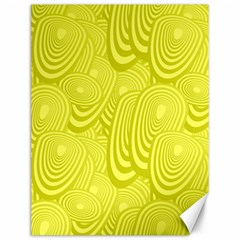 Yellow Oval Ellipse Egg Elliptical Canvas 12  X 16