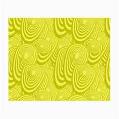 Yellow Oval Ellipse Egg Elliptical Small Glasses Cloth (2 Side)