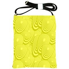 Yellow Oval Ellipse Egg Elliptical Shoulder Sling Bags