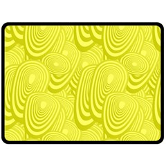 Yellow Oval Ellipse Egg Elliptical Fleece Blanket (large)