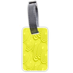Yellow Oval Ellipse Egg Elliptical Luggage Tags (one Side)
