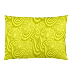 Yellow Oval Ellipse Egg Elliptical Pillow Case (two Sides)