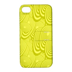 Yellow Oval Ellipse Egg Elliptical Apple Iphone 4/4s Hardshell Case With Stand