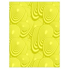 Yellow Oval Ellipse Egg Elliptical Drawstring Bag (large)