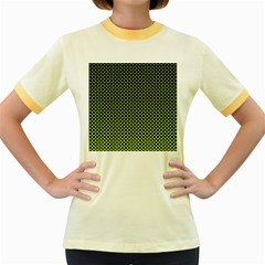 Pattern Halftone Background Dot Women s Fitted Ringer T Shirts