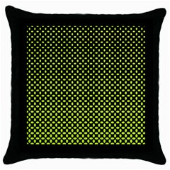 Pattern Halftone Background Dot Throw Pillow Case (black)